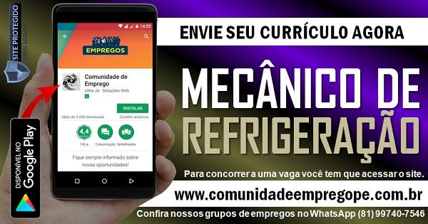 MECÂNICO DE REFRIGERAÇÃO PARA EMPRESA DE TRANSPORTE EM JABOATÃO DOS GUARARAPES