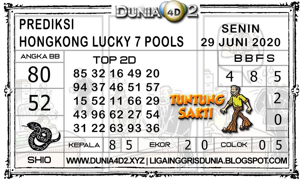Prediksi Togel HONGKONG LUCKY7 DUNIA4D2 29 JUNI 2020