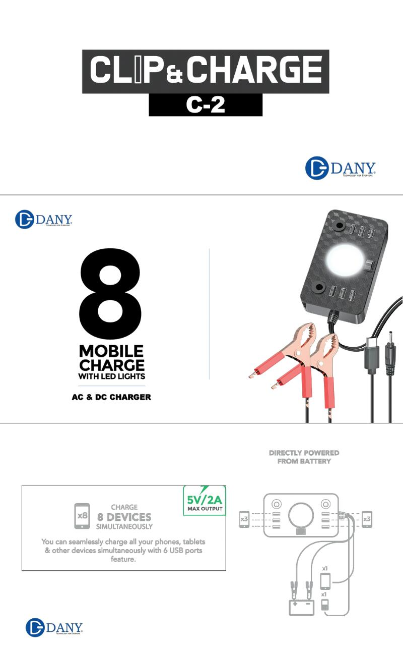 Dany CLIP and CHARGE C2 FEATURES