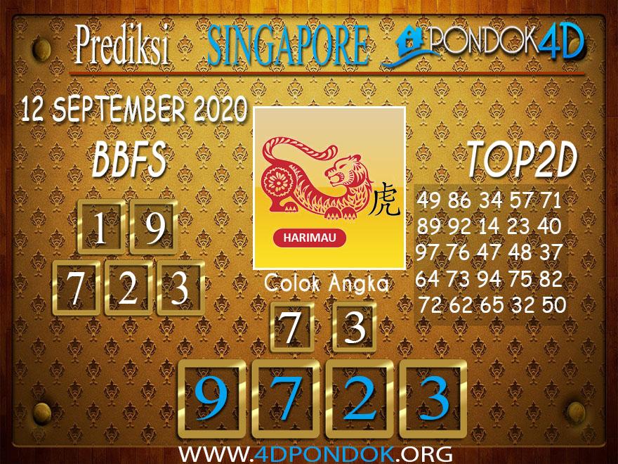 Prediksi Togel SINGAPORE PONDOK4D 12 SEPTEMBER 2020