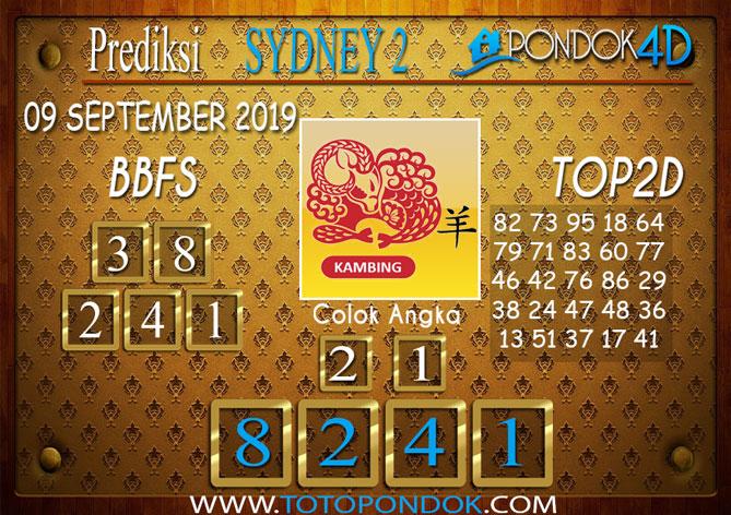 Prediksi Togel SYDNEY 2 PONDOK4D 09 SEPTEMBER 2019