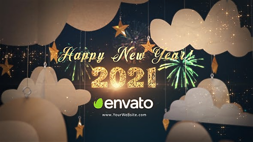 Happy New Year 2021 Paper Greetings 29284932 - Project for After Effects (Videohive)