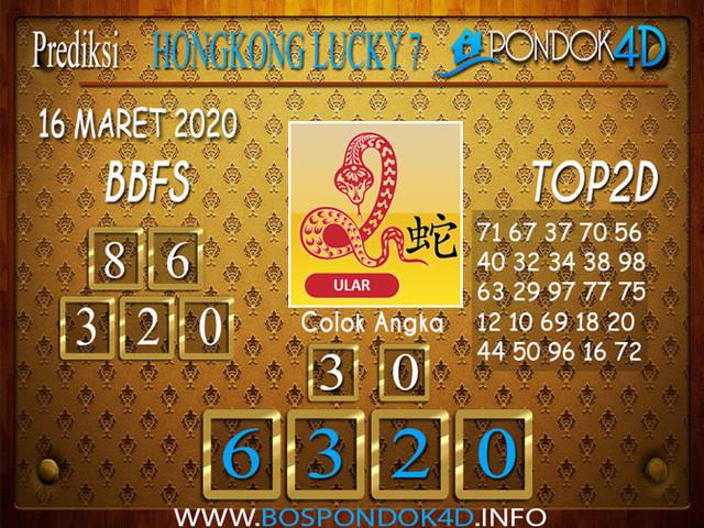Prediksi Togel HONGKONG LUCKY 7 PONDOK4D 16 MARET 2020
