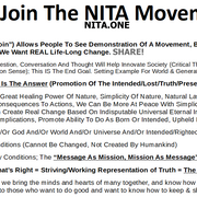 """Share-Sheet Of """"Nature Is The Answer' NITA.ONE"""