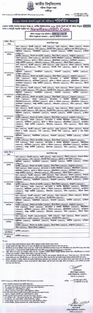 Honours 4th Year Changed / New Routine 2019-2020