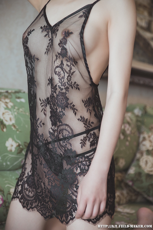 Tsubaki Album vol.006 Sheer lace pajamas 怠いお昼のパジャマ少女 sexy-nightdress-21