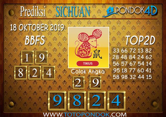 Prediksi Togel SICHUAN PONDOK4D 18 OKTOBER 2019