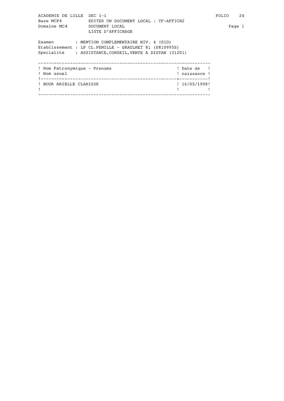 Résultats MC ACVD - Juillet 2020