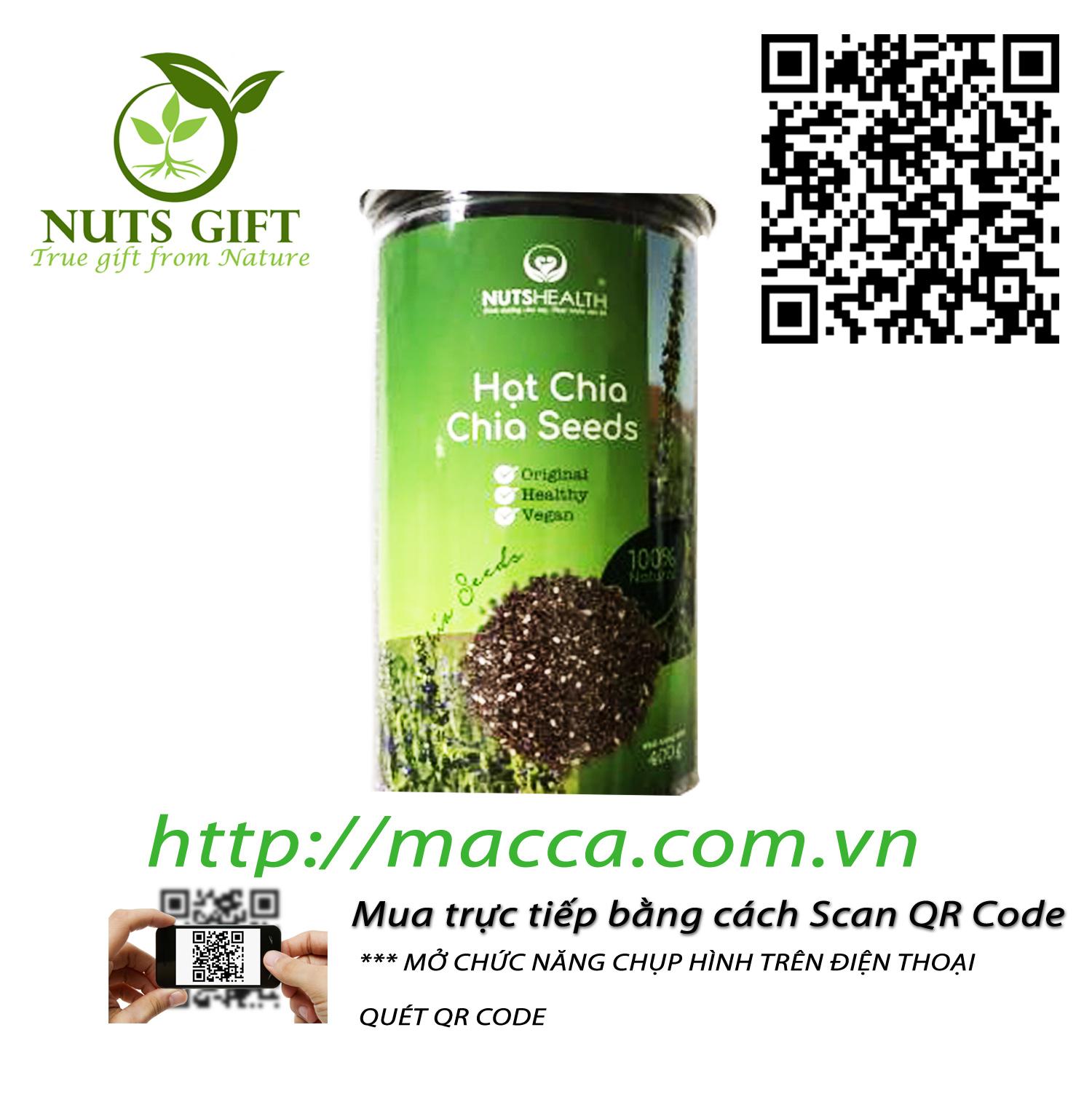 Hạt Chia – Nutshealth – 400Gr