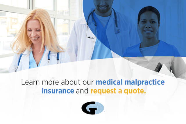 Learn more about our medical malpractice insurance and request a quote.