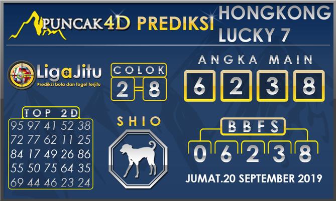 PREDIKSI TOGEL HONGKONG LUCKY7 PUNCAK4D 20 SEPTEMBER 2019