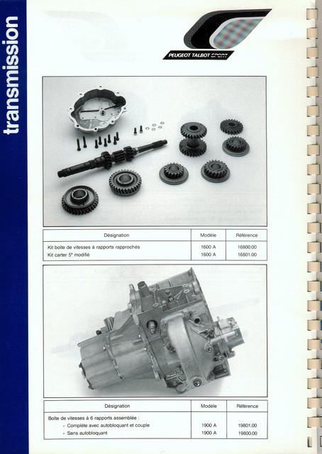 Catalogue PTS pièces compétition - 205 GTI 1600-1900 gr. N/A PTS-Transmission-2