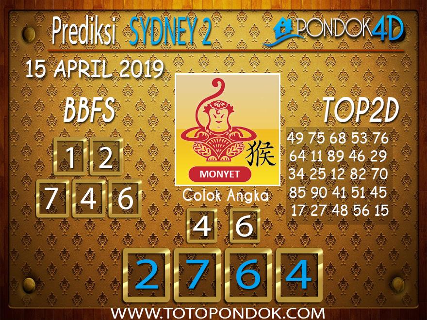 Prediksi Togel SYDNEY 2 PONDOK4D 15 APRIL 2019