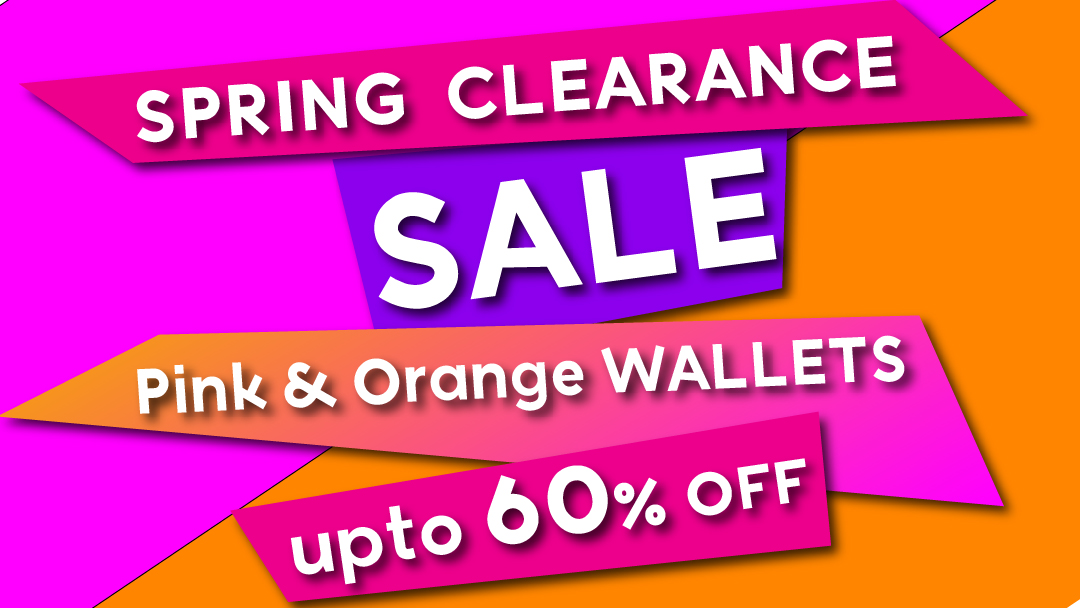 Pink and Orange wallets Sale