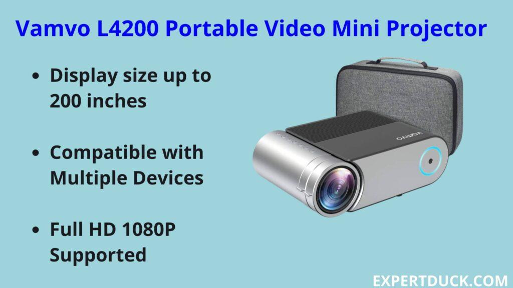 Vamvo L4200 Portable Video Mini Projector- Expertduck.com