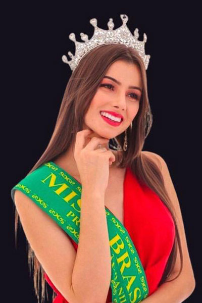 candidatas a the miss globe 2020. final: 12 nov. Brazil