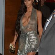 Kim-Kardashian-wearing-sheer-Chain-Mail-dress