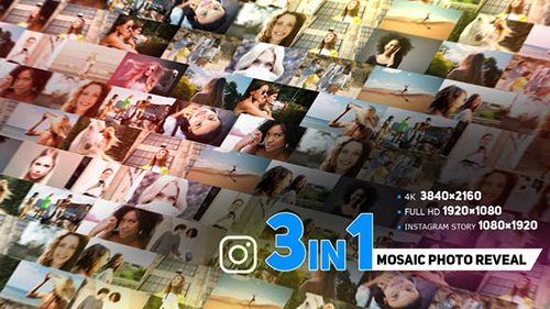Modern Mosaic Photo Reveal 33909099 - Project for After Effects (Videohive)