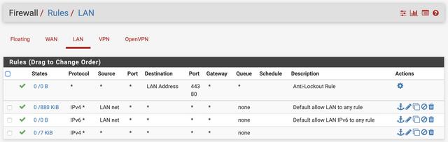 Server VPN FW LAN