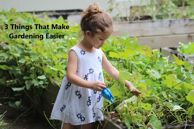 3 Things That Make Gardening Easier