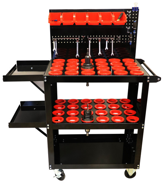 At Uratech USA Inc, we manufacture different varieties of CNC Tool carts and each of them has a model type CAT 40. These model types are designed on our product with perfection according to the customer's requirement. Each cart is made up of cold rolled steel to ensure the durability and solidity of the products to be utilized in different industries. For more details, you can either contact us on Ph: 716 949 4237 or email at Info@Uratechusa.com. Visit our website www.Uratechusa.com to know more about our products, we are open to your queries 24/7.