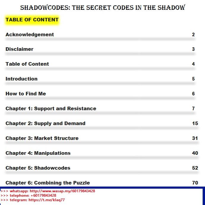 Hanzo Shawdow Codes pdf - SHADOWCODES THE SECret codes in the shadow