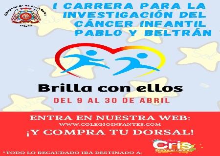 La carrera BRILLA CON ELLOS Pablo y Beltrán recaudará fondos para la investigación del cáncer infantil