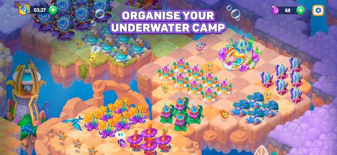 Sea Merge Fish Games in Aquarium & Ocean Puzzle 2