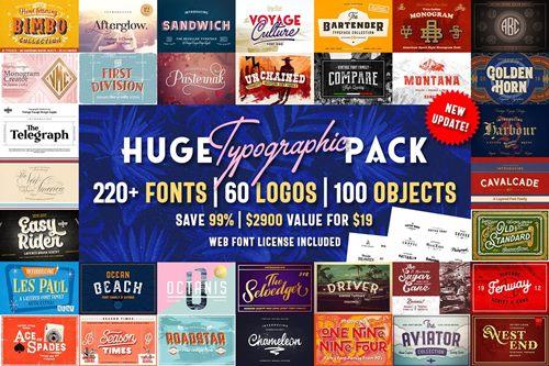 Huge Typographic Pack + 60 Logos