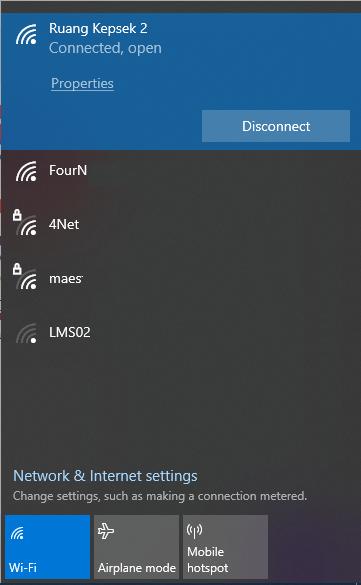 cara blokir wifi di os windows