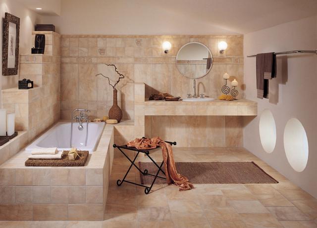 Виды плитки для ванны