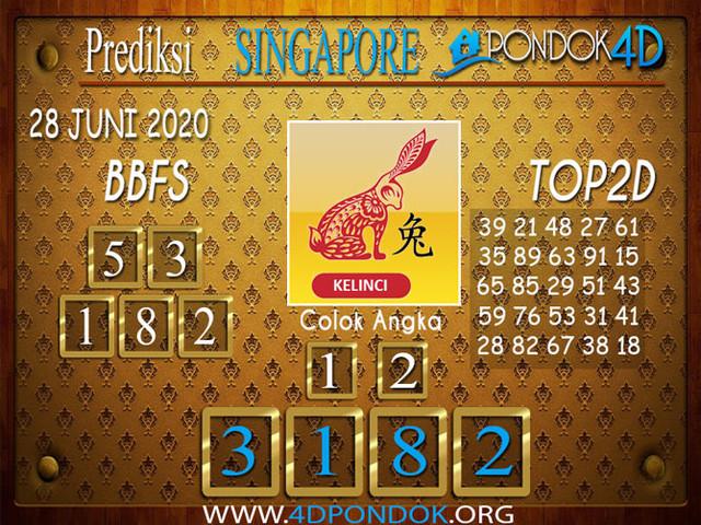Prediksi Togel SINGAPORE PONDOK4D 28 JUNI 2020