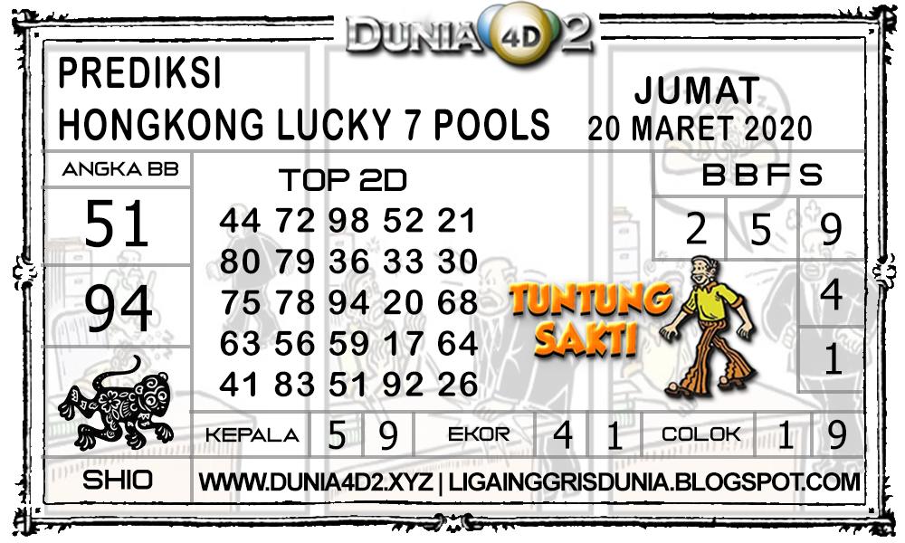 Prediksi Togel HONGKONG LUCKY7 DUNIA4D2 20 MARET 2020