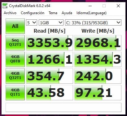 Comparativa discos NVME Samsung 970 evo 256Gb, Crucial P1 1Tb y Sabrent Rocket 1Tb...
