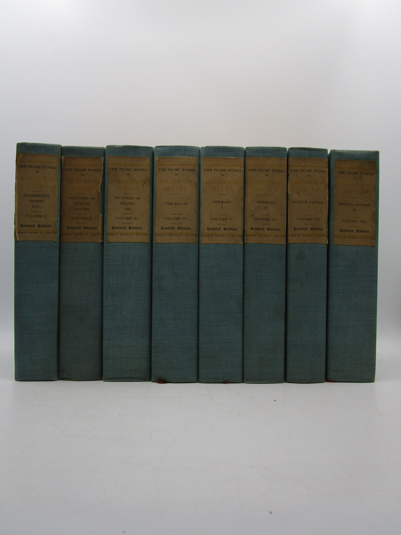 Image for The Works of Heinrich Heine (8 volumes)
