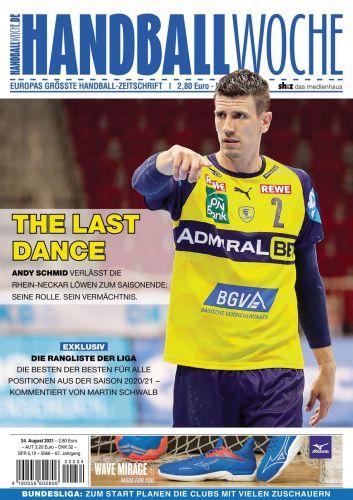 Cover: Handballwoche Magazin No 34 vom 24  August 2021