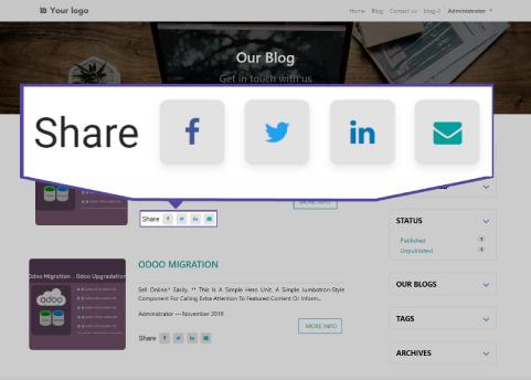 Blog Website Design, Blog Post Snippet, Blog Post Page in odoo