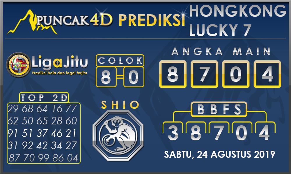 PREDIKSI TOGEL HONGKONG LUCKY7 PUNCAK4D 24 AGUSTUS 2019