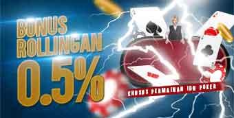 PROMO ROLLINGAN IDNPOKER 0.5%