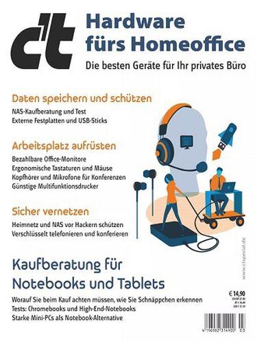Cover: ct Magazin für Computertechnik Sonderhefte Hardware furs Homeoffice No 03 2021