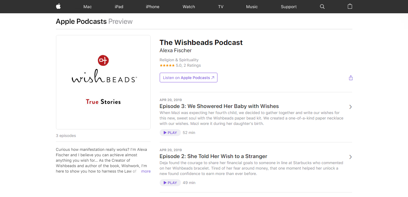 The The Wishbeads Podcast travel product recommended by Alexa Fischer on Pretty Progressive.