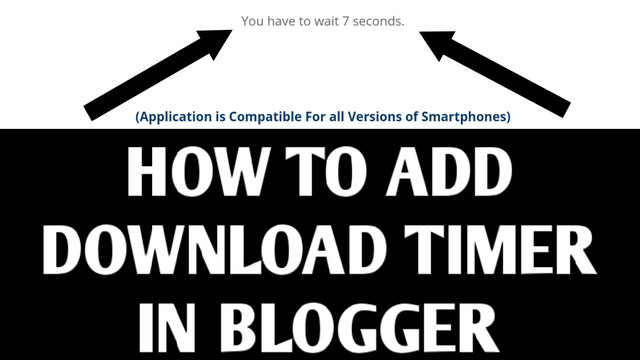 How to Add Download Timer in Blogger