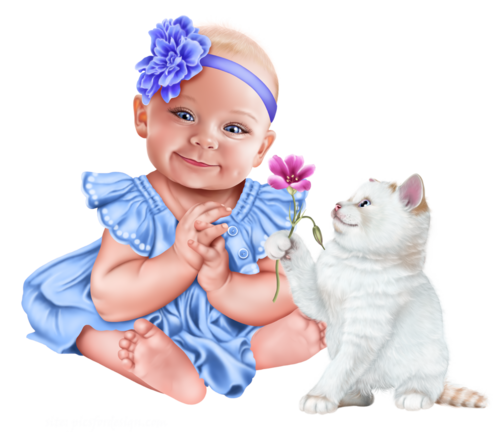 baby-with-a-kitten-png14.png