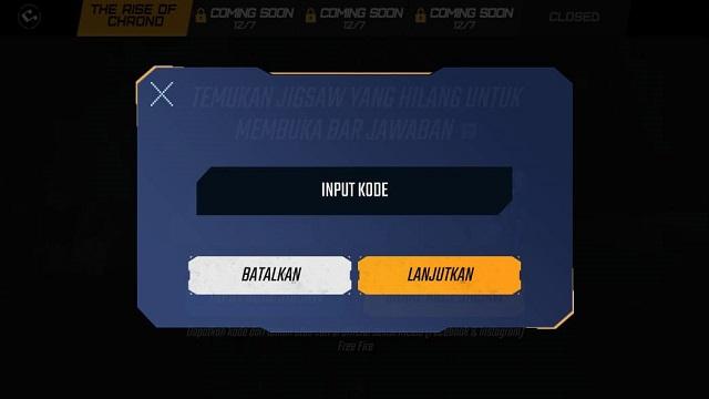 Input Kode Jigsaw FF, Begini Caranya Pasti Berhasil!