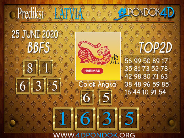 Prediksi Togel LATVIA POOLS PONDOK4D 25 JUNI 2020
