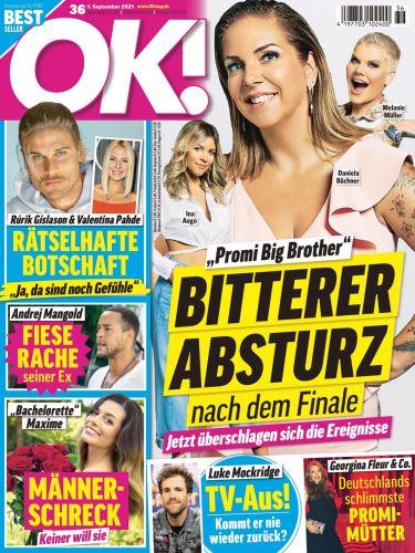 Cover: Ok! Das Exklusiv-Magazin der Stars No 36 vom 01  September 2021
