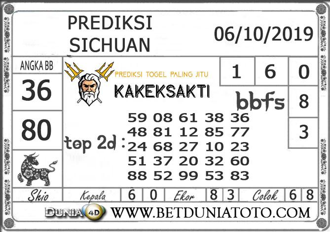 """Prediksi Togel """"SICHUAN"""" DUNIA4D 06 OKTOBER 2019"""