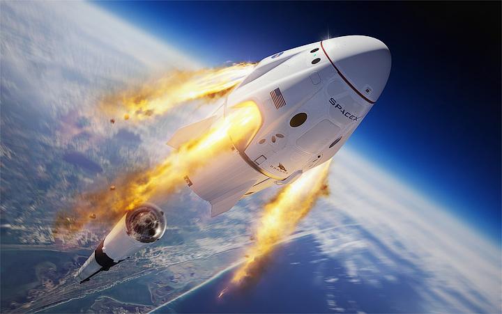 Прямая трансляция пилотируемого запуска Crew Dragon