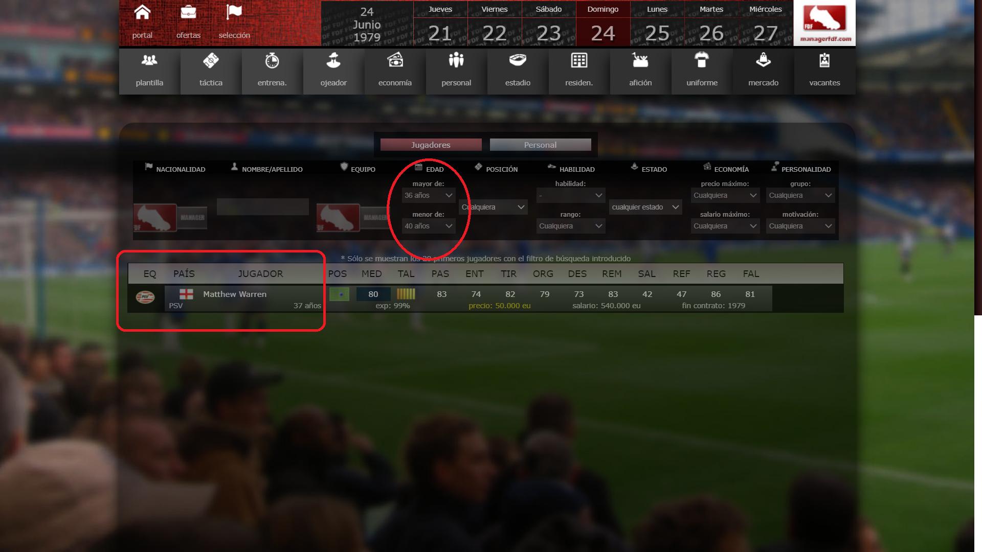 manager futbol online