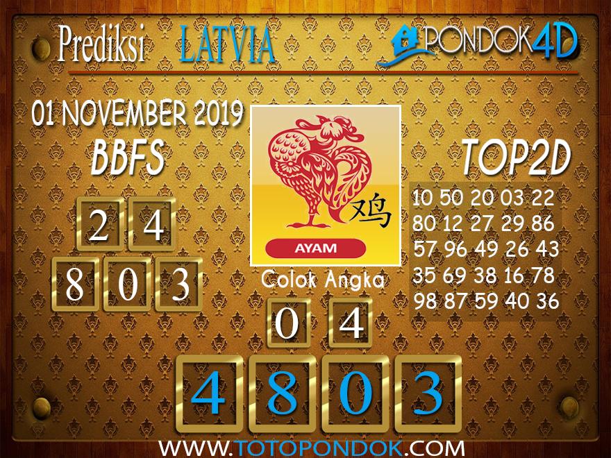 Prediksi Togel LATVIA POOLS PONDOK4D 01 NOVEMBER  2019